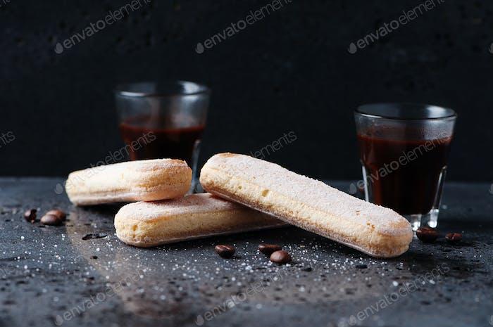Traditional italian cookie savoiardi