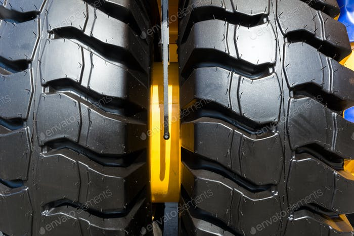 Two truck wheel tire texture