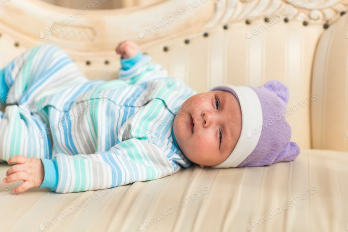 close-up portrait of a beautiful sleeping newborn baby