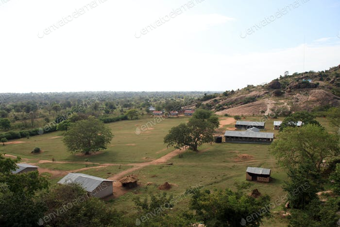 School at Abela Rock, Uganda, Africa