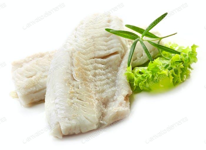 zubereitete Fischfilets