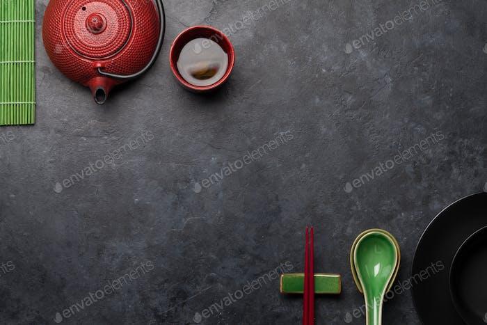 Japanese tea and tableware