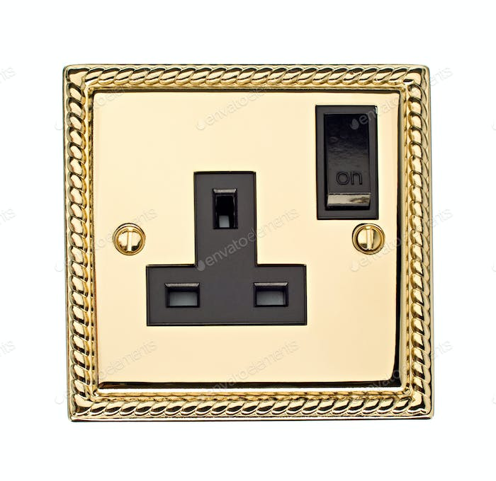 Gold Electric Socket