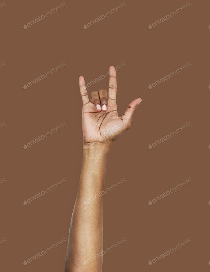 Hand with love expression gesture