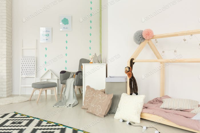Cozy, scandi style child bedroom