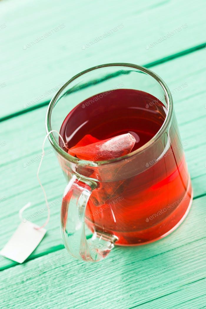 Fruit red tea.