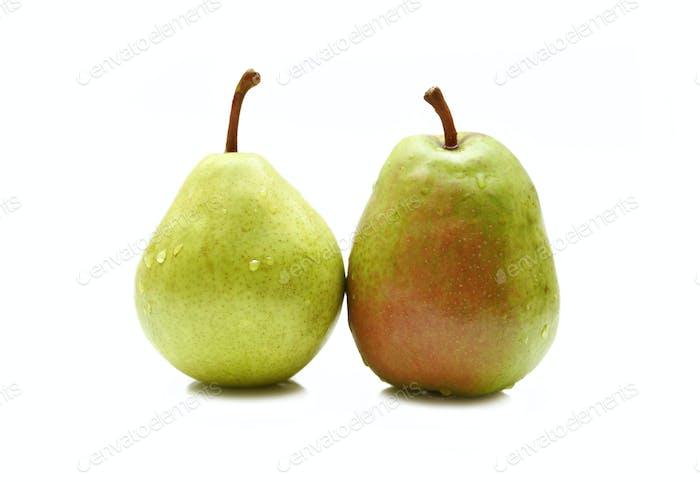 Zwei grüne Birnen
