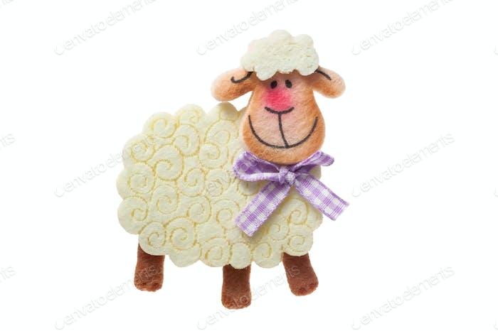 Smiling white sheep