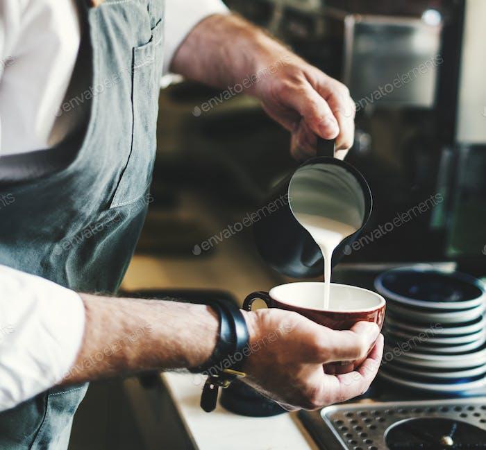 Delantal para café con leche, Concepto de barista