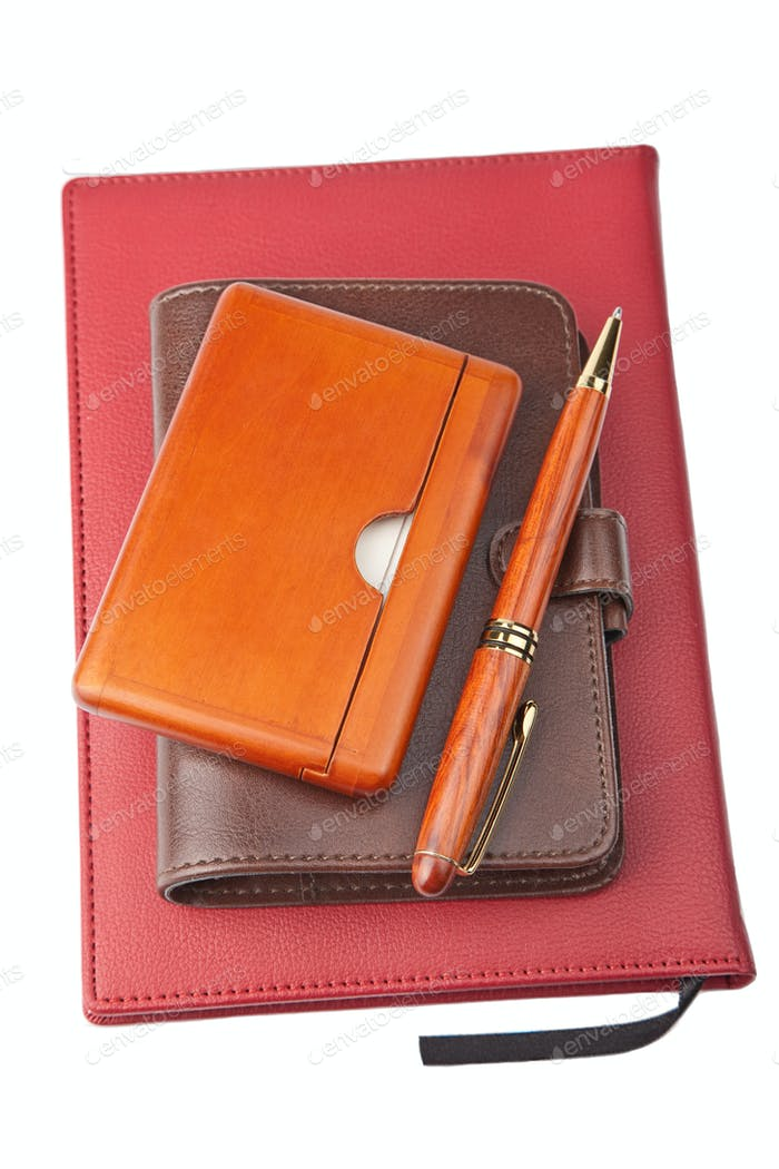 organizer pen and diary
