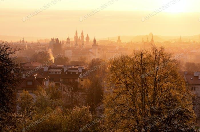 Frühlingszeit in Prag, Tschechische Republik.