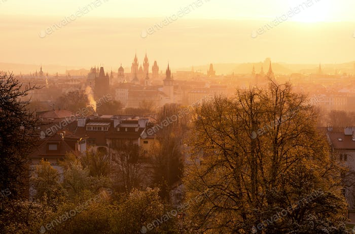 Spring time at Prague, Czech republic.