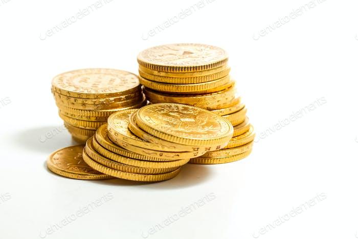 Monedas de oro americanas.