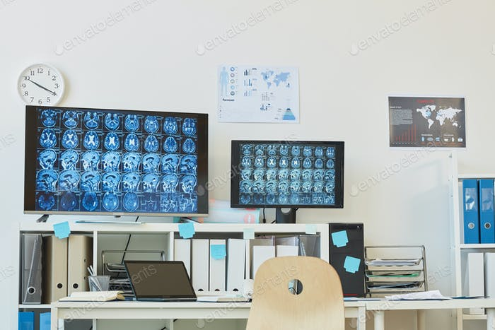 Computer Tomography Workstation in Clinic