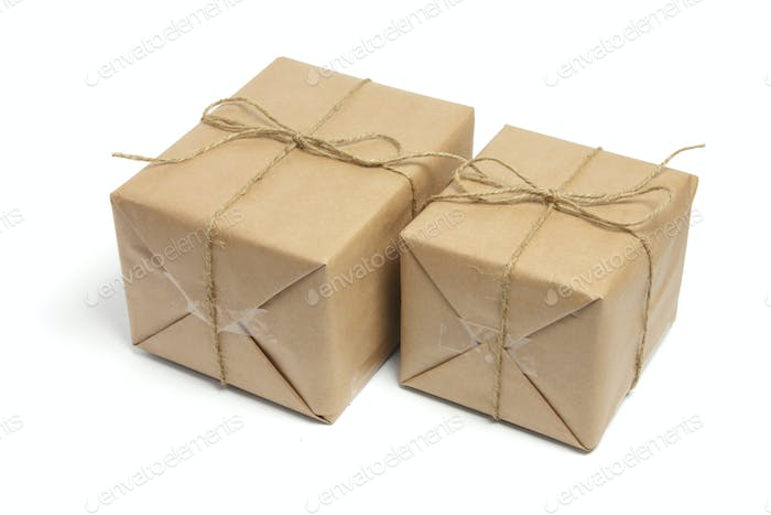 Brown Packages Tied with String