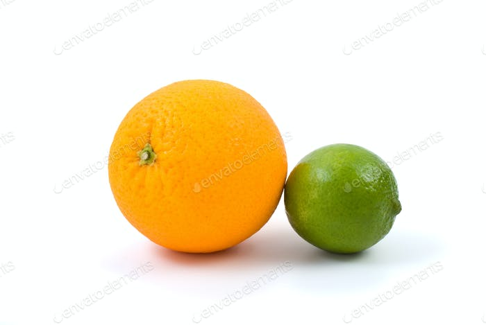 Orange and lime