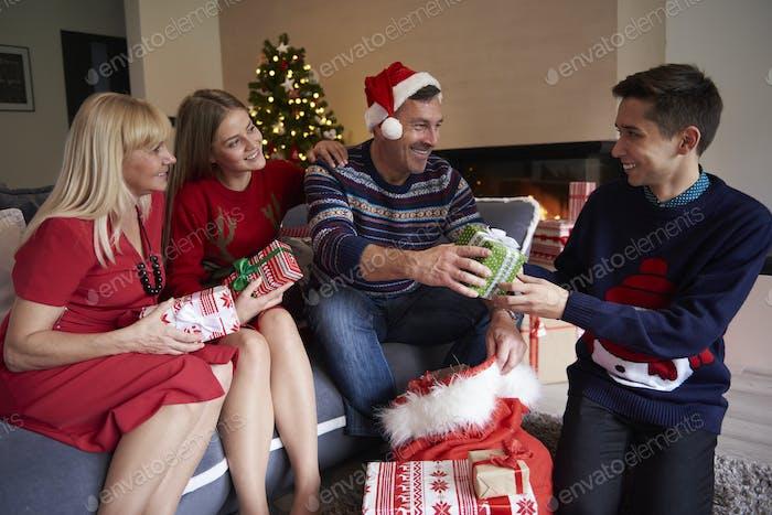 Die Zeit für den Austausch von Geschenken