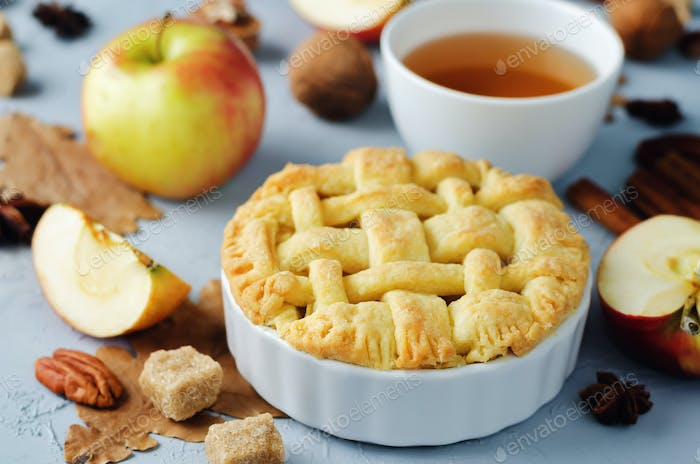 Apple pies with different design