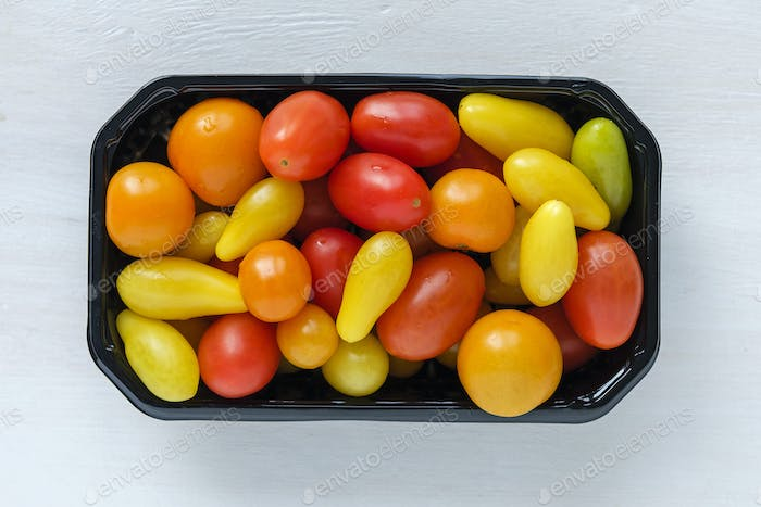Tray of homegrown tomatoes