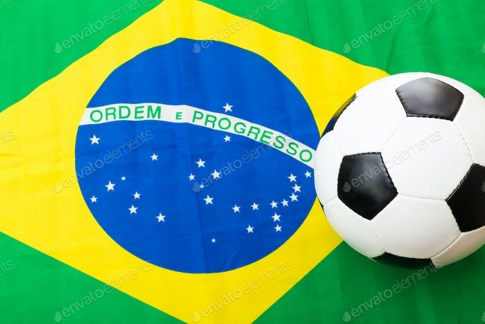 Brazil Flag and football
