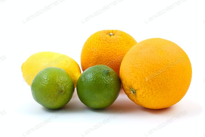 Oranges, limes and lemon