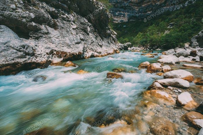 Mountain River. Scenic View Of Verdon River In France