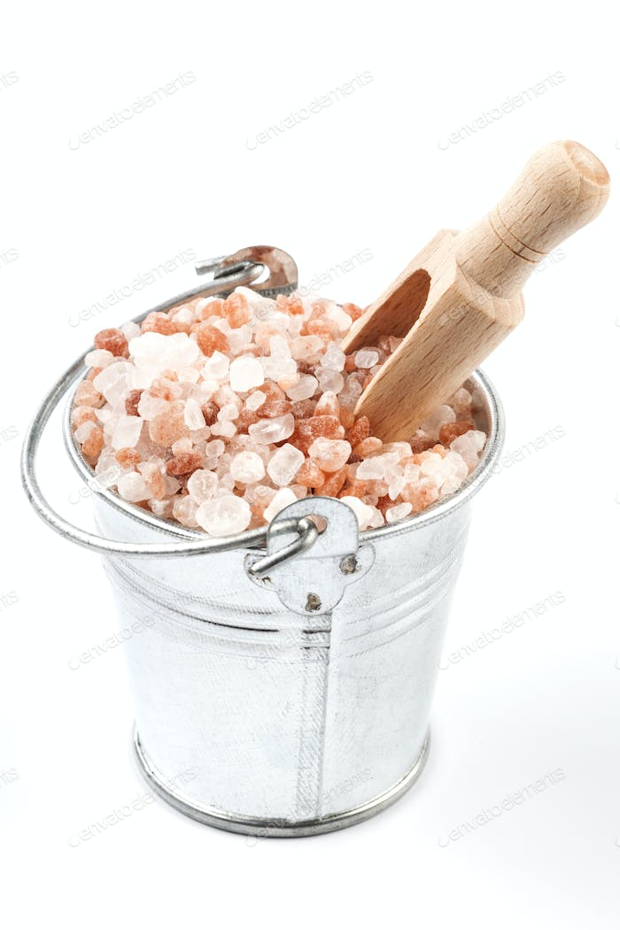 Isolated Salt in Bucket