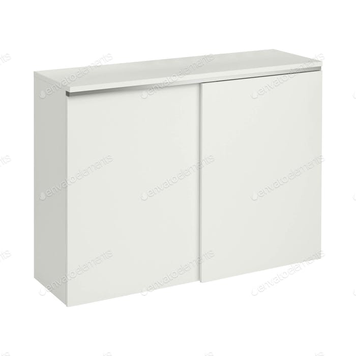beautiful white modern cupboard