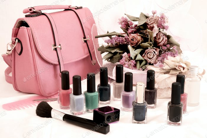 bag and nail polish