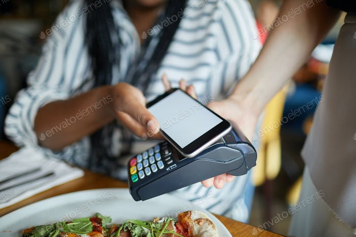 Paying through smartphone