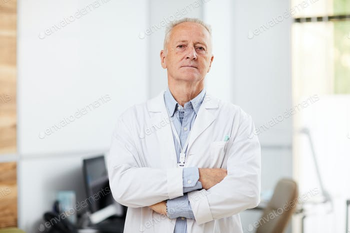 Mature Doctor in Clinic