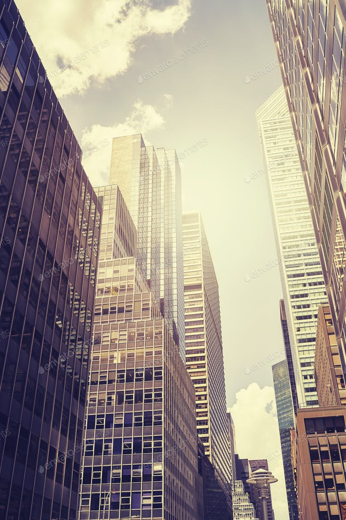 Manhattan skyscrapers, NYC, USA.