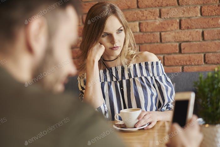 Paar mit Problemen mit der Kommunikation