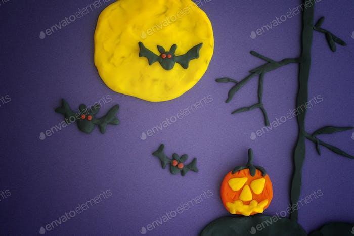 Happy Halloween. Childlike Halloween Art