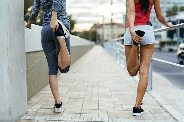 Warming up for jogging