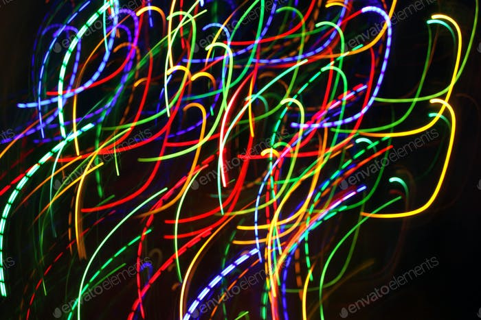 Abstract colorful motion background with blurred lights
