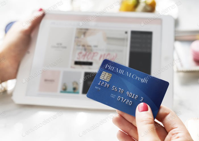 Person Shopping Online Connection Concept