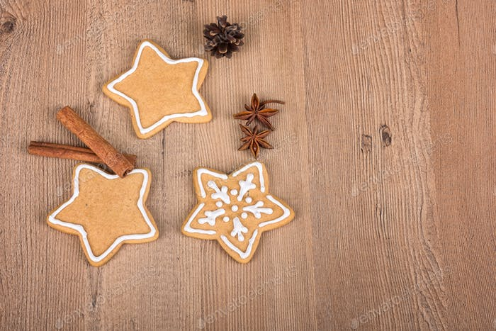 Christmas cookies with decoration