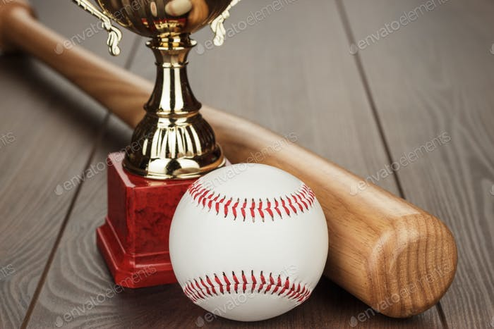 baseball golden trophy cup