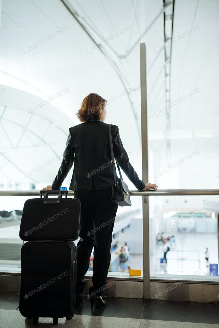 Business woman airport
