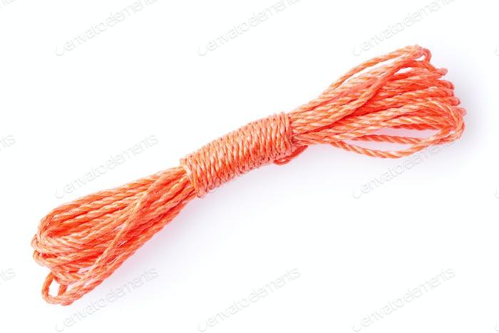 orange rope isolated on white background