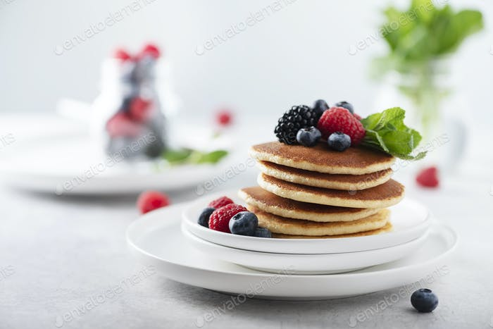 Pancakes with berry