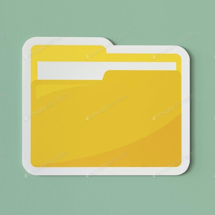 Symbol eines gelben Ordners