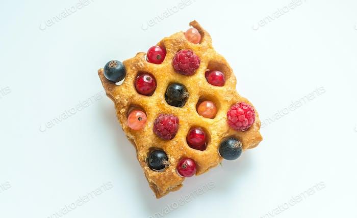 Belgium waffle with fresh berries