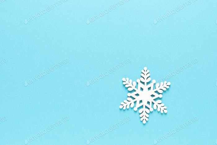 Christmas, Xmas, New Year or Noel holiday greeting card with xmas decorations, snowflake