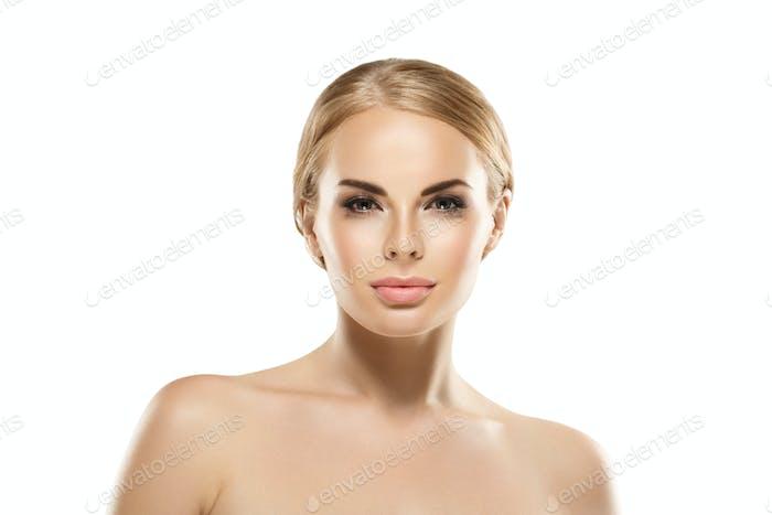 Beauty skin woman face healthy female skin care portrait