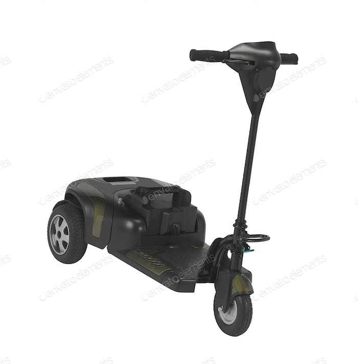 electric scooter isolated