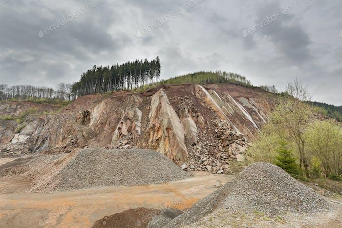 Quarry in the Ardennes, Belgium