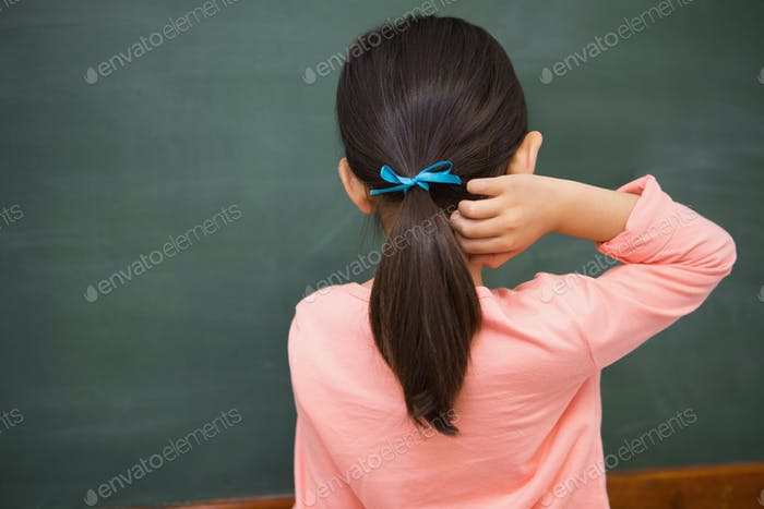 Pupil looking at board at elementary school