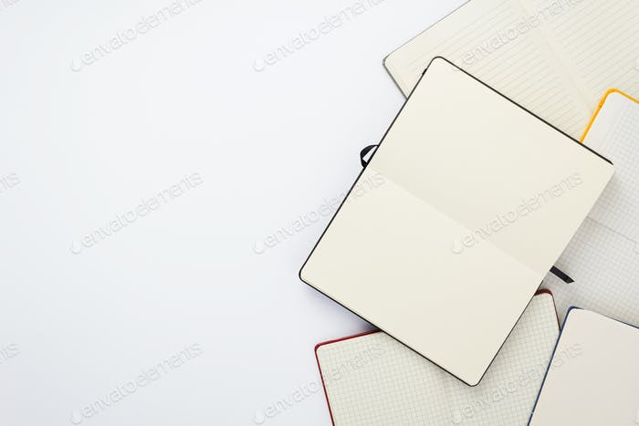 paper notebook and note pad
